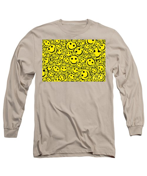 Happy Smiley Faces Long Sleeve T-Shirt