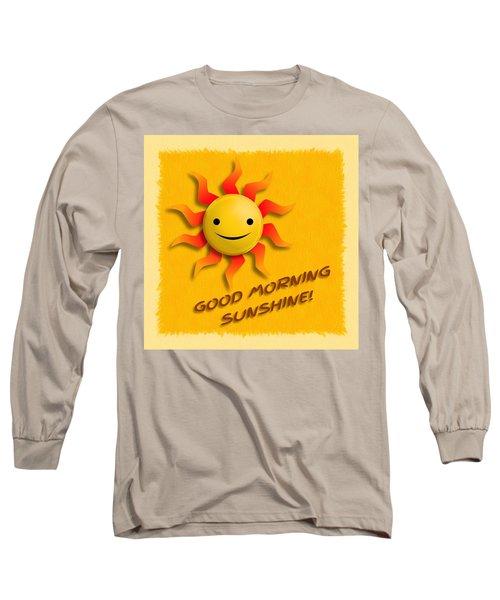 Happy Sun Face Long Sleeve T-Shirt