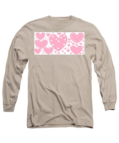 'just Hearts' Long Sleeve T-Shirt by Linda Velasquez