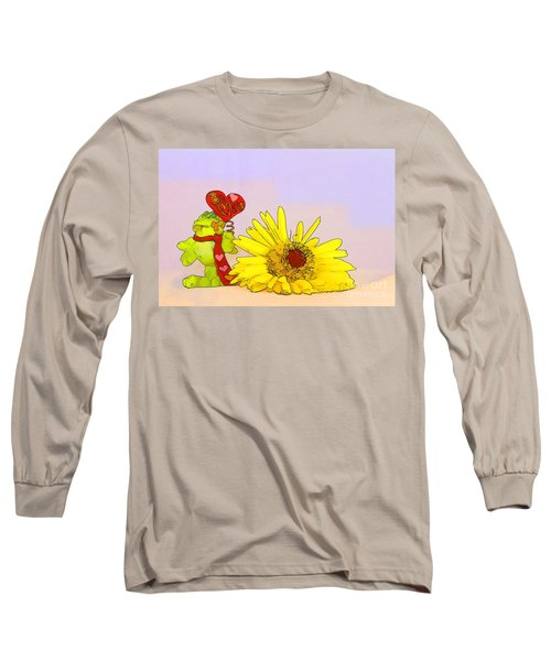 Happy Valentine's Day Long Sleeve T-Shirt by Teresa Zieba