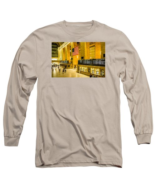 Long Sleeve T-Shirt featuring the photograph Grand Central Pride by M G Whittingham