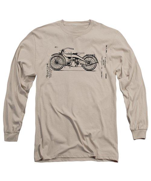 Harley Motorcycle Patent Long Sleeve T-Shirt