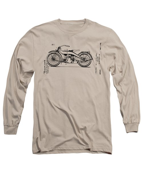 Long Sleeve T-Shirt featuring the digital art Harley Motorcycle Patent by Bill Cannon