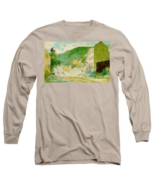 Harpers Ferry West Virginia 1873 Long Sleeve T-Shirt by Padre Art