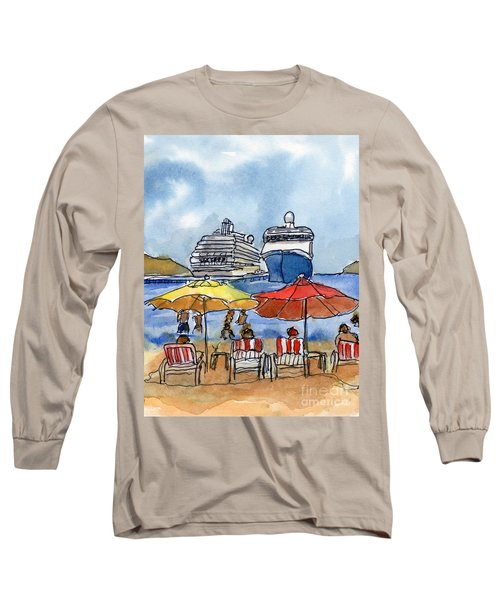 Hautuco Dock Long Sleeve T-Shirt by Randy Sprout