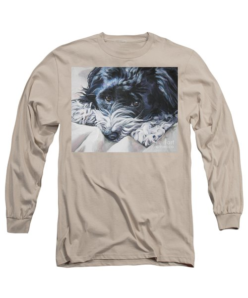 Havanese Black And White Long Sleeve T-Shirt by Lee Ann Shepard