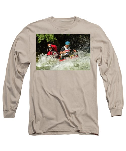 Having Fun In Whitewater Long Sleeve T-Shirt