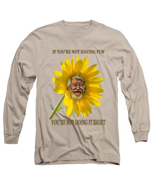Having Fun Long Sleeve T-Shirt by Rick Mosher