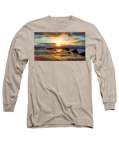 Hawaiian Paradise Long Sleeve T-Shirt by Michael Rucker