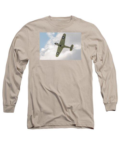 Hawker Hurricane Mk I Long Sleeve T-Shirt by Gary Eason