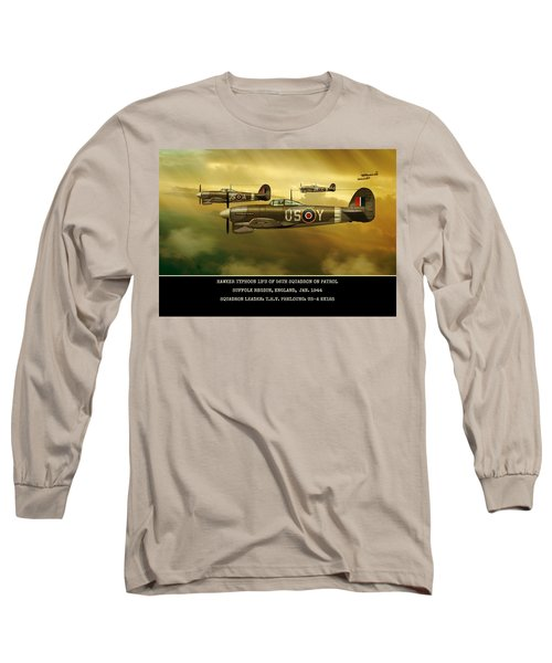 Long Sleeve T-Shirt featuring the digital art Hawker Typhoon Sqn 56 by John Wills