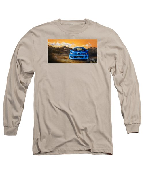 Long Sleeve T-Shirt featuring the painting Hawkeye  by Chad Berglund