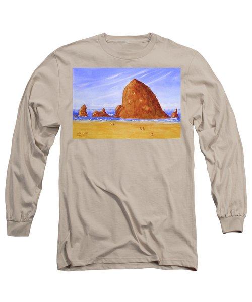 Hay Stack Rock Long Sleeve T-Shirt