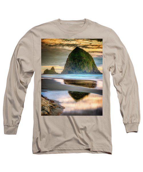 Haystack At Sunset Long Sleeve T-Shirt