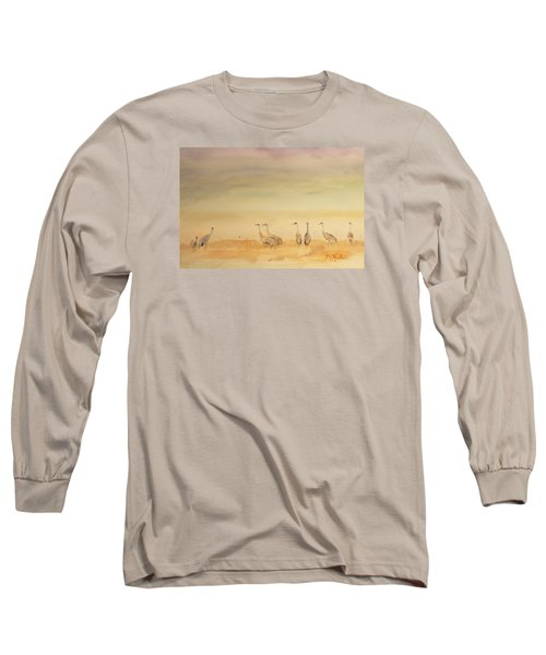 Hazy Days Cranes Long Sleeve T-Shirt