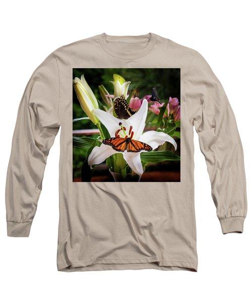 Long Sleeve T-Shirt featuring the photograph He Still Gives Me Butterflies by Karen Wiles
