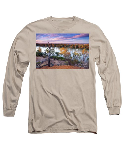 Long Sleeve T-Shirt featuring the photograph Heading Cliffs Murray River South Australia by Bill Robinson