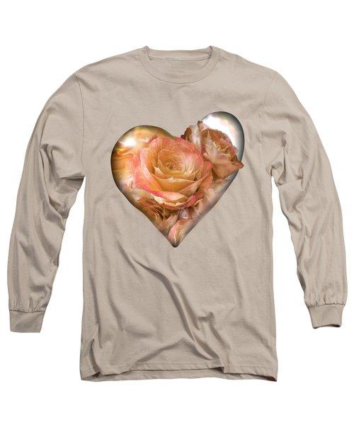Heart Of A Rose - Gold Bronze Long Sleeve T-Shirt