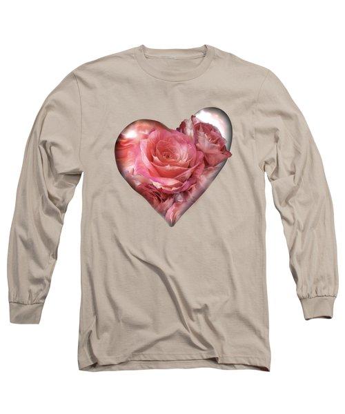 Heart Of A Rose - Melon Peach Long Sleeve T-Shirt