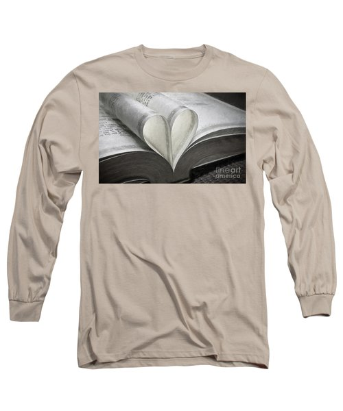 Heart Of The Book  Long Sleeve T-Shirt
