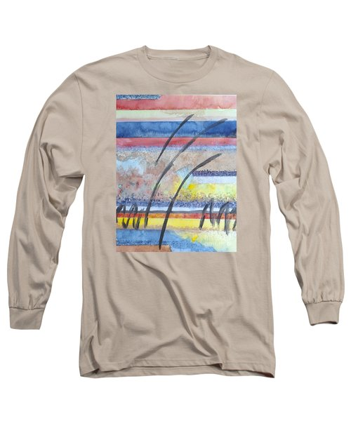 Long Sleeve T-Shirt featuring the painting Heartbeat by Jacqueline Athmann