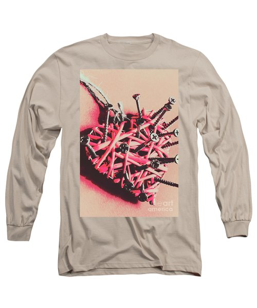 Hearts And Screws Long Sleeve T-Shirt