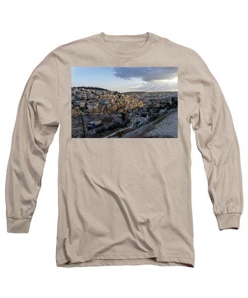 Heaven Shines On The City Of David Long Sleeve T-Shirt