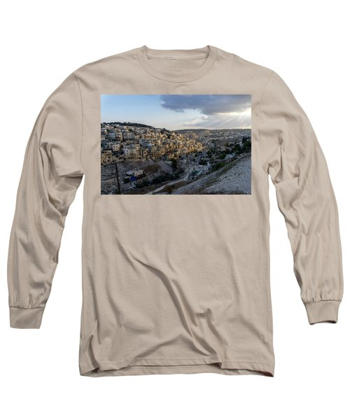 Heaven Shines On The City Of David Long Sleeve T-Shirt