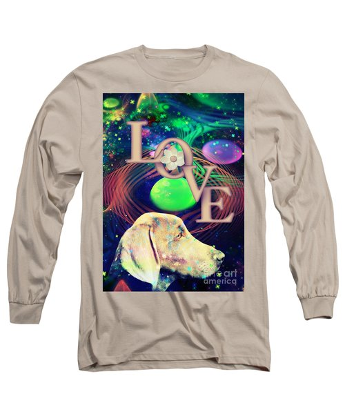 Long Sleeve T-Shirt featuring the digital art Heavenly Love by Kathy Tarochione