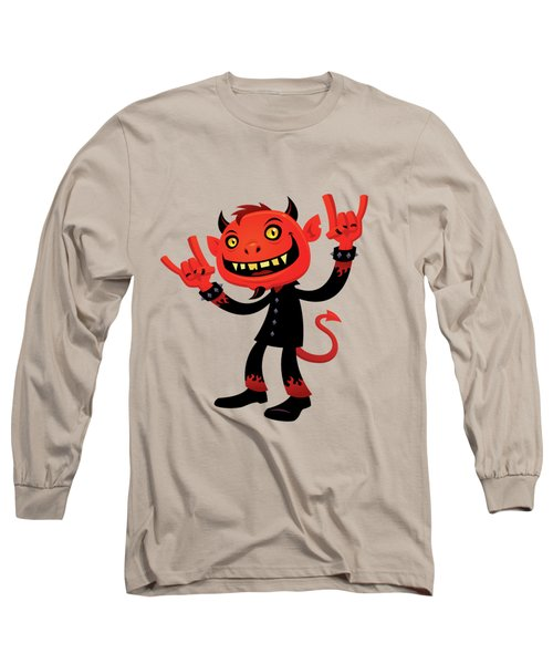 Heavy Metal Devil Long Sleeve T-Shirt by John Schwegel
