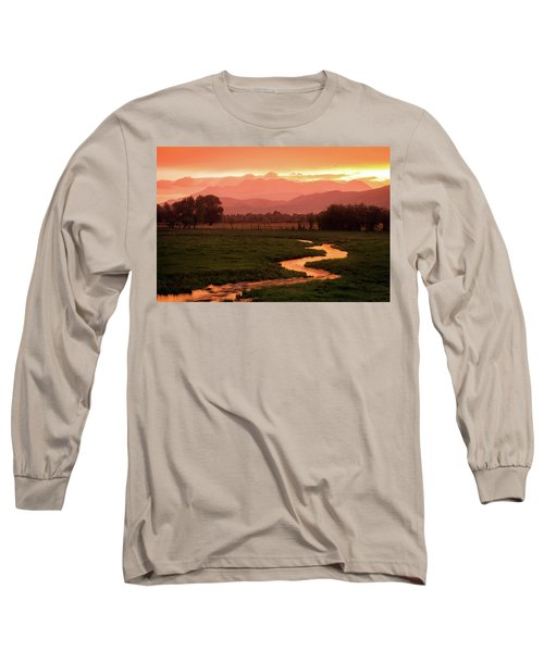 Heber Valley Golden Sunset Long Sleeve T-Shirt