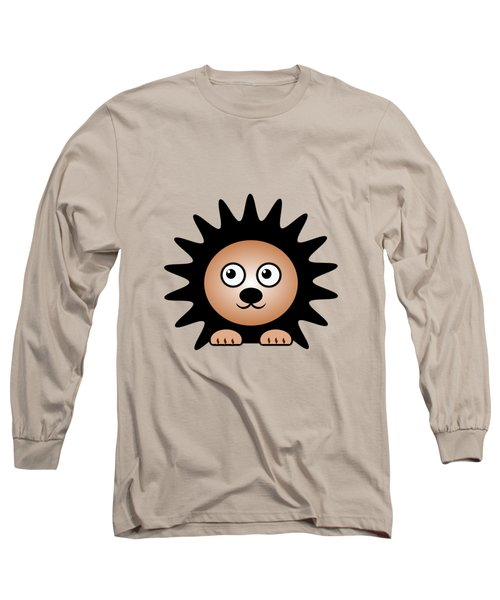 Hedgehog - Animals - Art For Kids Long Sleeve T-Shirt by Anastasiya Malakhova
