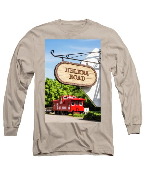 Long Sleeve T-Shirt featuring the photograph Helena Road Sign by Parker Cunningham