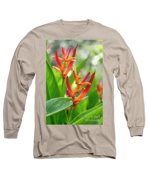 Heliconia Psittacorum Long Sleeve T-Shirt