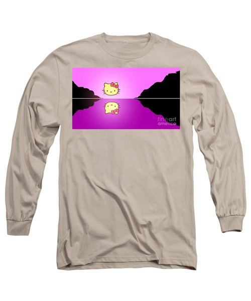 Hello Kitty Sunrise Long Sleeve T-Shirt by George Pedro