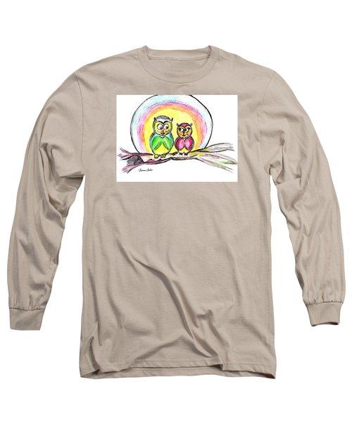 Hello Moonlight  Long Sleeve T-Shirt by Ramona Matei