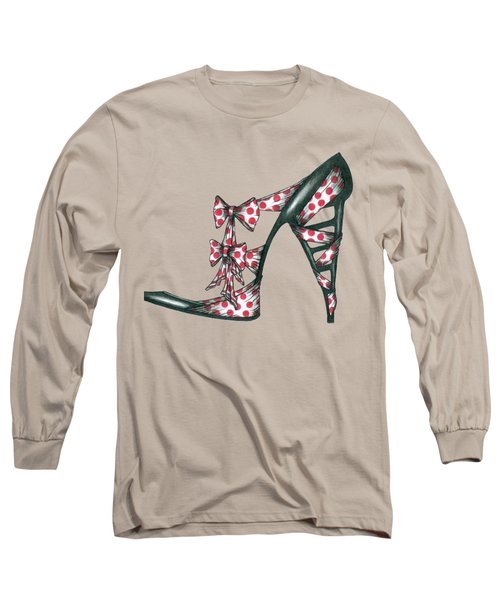 Her Shoe  Long Sleeve T-Shirt by Herb Strobino
