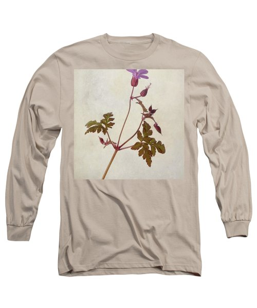 Herb Robert - Wild Geranium  #flower Long Sleeve T-Shirt