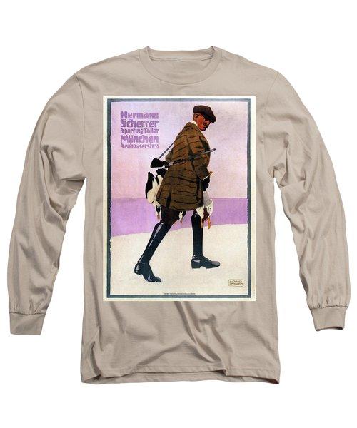 Hermann Scherrer Sporting Tailor - Munich, Germany - Vintage Advertising Poster Long Sleeve T-Shirt