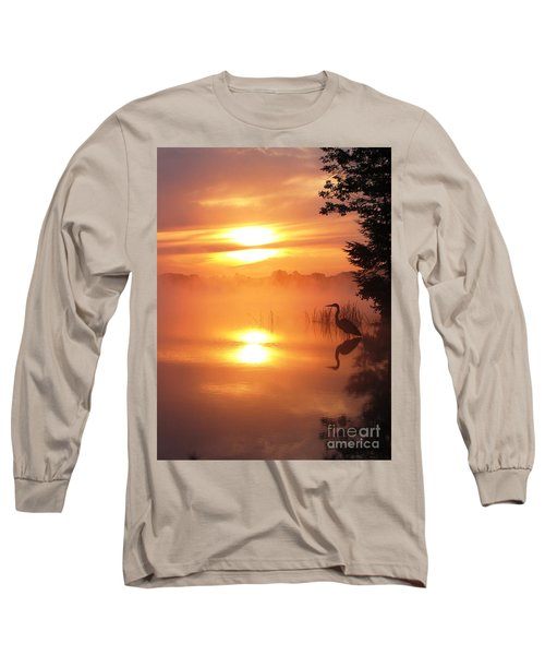 Long Sleeve T-Shirt featuring the photograph Heron Collection 2 by Melissa Stoudt