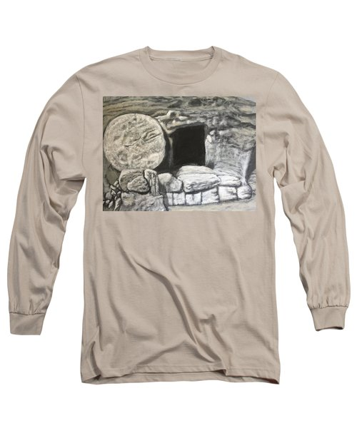 Long Sleeve T-Shirt featuring the painting He's Not Here by Antonio Romero