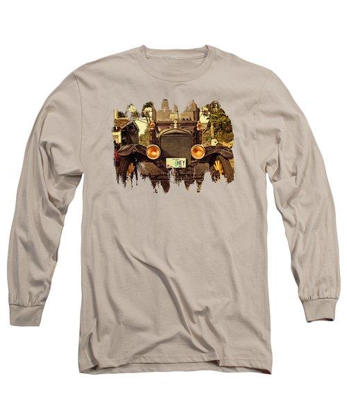 Hey A Model T Ford Truck Long Sleeve T-Shirt by Thom Zehrfeld
