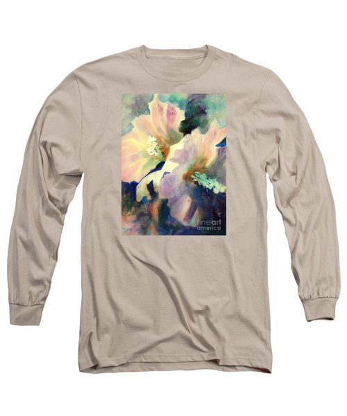 Long Sleeve T-Shirt featuring the painting Hibicus Up Close by Kathy Braud