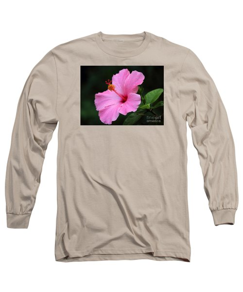 Long Sleeve T-Shirt featuring the photograph Hibiscus In Pink by Lisa L Silva