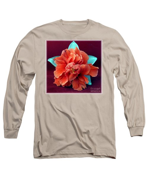 Hibiscus On Glass Long Sleeve T-Shirt