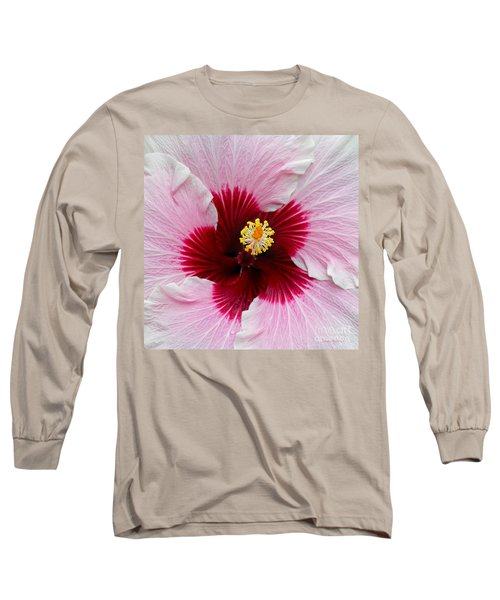 Hibiscus With Cherry-red Center Long Sleeve T-Shirt