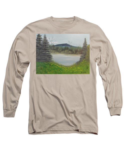 Hidden Pond  Long Sleeve T-Shirt by Thomas Janos