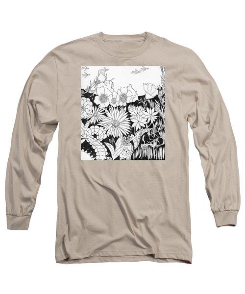 Hide And Seek Long Sleeve T-Shirt by Lou Belcher
