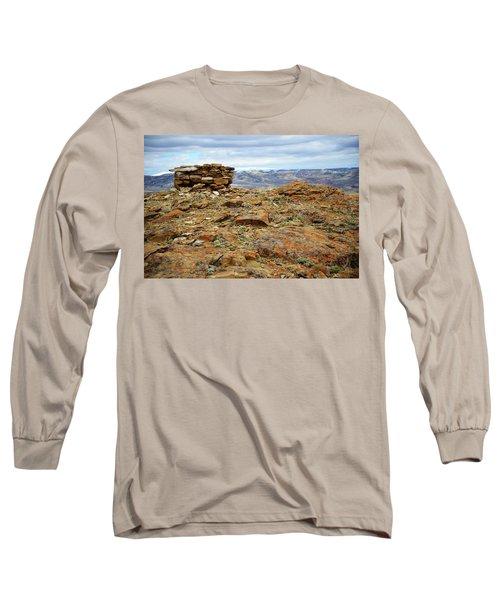 High Desert Cairn Long Sleeve T-Shirt by Eric Nielsen