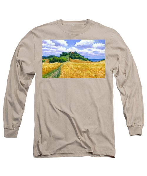 Long Sleeve T-Shirt featuring the painting High Noon Tuscany  by Michael Swanson